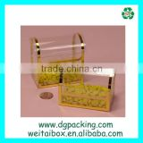 new design Plastic Gold Stamping candy&biscuit&cookies Container Packaging Box                                                                         Quality Choice