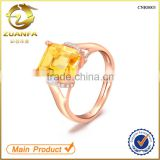 top quality for women wedding gold plating citrine natural gemstone silver ring                                                                                                         Supplier's Choice