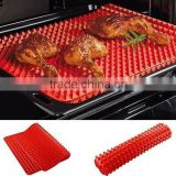 eco-friendly silicone made pyramid silicone barbeque grill mat