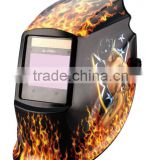 OEM sexy girl decal large view area laser oxyfuel gas plasma arc welding auto darkening welding mask