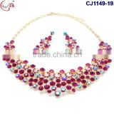 CJ1149-19 Multi color crystal jewelry beads Indian bridal jewelry sets elegant wedding jewelry
