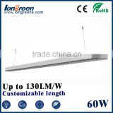 2016 new product linear 60w led suspended light high brightness led linear pendant light