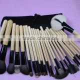 25pcs Professional Makeup Brush Set Cosmetic Brush Kit Makeup Tool with Roll up Leather Bag Black