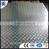 Aluminum sheet with ribs for boat superstructure 5052