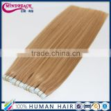 MR hair,factory price cheap tape hair extension 16# color straight Brazilian tape hair extension