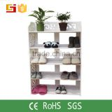 Pakistan bedroom furniture easy clean wpc shoe rack with pretty design