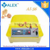 Full automatic incubator 56 mini egg incubator with intelligent digital temperature and humidity controller