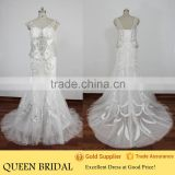Real Sample Mermaid Heavy Beaded Plus Size Wedding Dress Crystal Embroidery