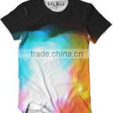 New Design High Quality 100% Polyester Short Sleeve Color Fashion Sublimation Tshirt OEM