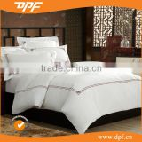 Hotel White Embroidered fabric wholesale comforter sets bedding hotel bedspreads Bed Set