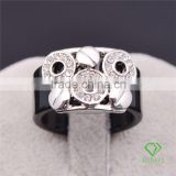 jewelry 18k white gold GP austrian crystal rings