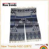 Hot sale !! Fashion aztec imitate cashmere woven pashmina winter cape