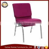 Wholesale cheap cover fabric padded interlocking used stackable church chairs for sale                                                                         Quality Choice