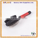 B30540 dual use Flea Comb Pet Dog Cat Grooming Cleaning Remove Lice stainless steel comb with brush                                                                         Quality Choice
