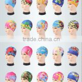 2016 new design High Quality Cute Cartoon Printing Children Waterproof Swimming Hat
