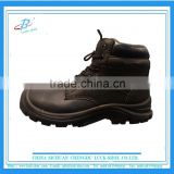 black steel toe action leather safety shoe, OEM steel insole mens safety work shoe, PU outsole safety shoe high quality