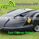 Smartphone App Control Robot Grass Mower/programmable grass cutting machine Auto recharged, LCD Touch Display