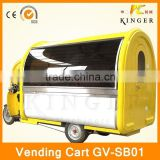 popular China mobile fryed chicken food kiosk with fridge, ice cream making machine, and sugarcane juicer machine