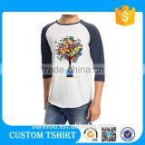 B2B Online Wholesae Shop Clothing Custom Man Baseball Shirt 3/ 4 Sleeve Baseball T Shirt