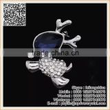 Lovely Royal Blue Crystal Diamond Rhinestone Run Dog Animal Brooch Pin