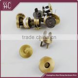 14mm and 18mm Brush Anti-Brass Magnetic Button for Bag,Low Price Wholesale in Guangzhou China