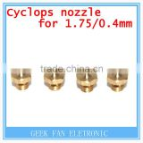 3D Printer Cyclops Multi-Extrusion Hotend 1.75mm Filament 2in-1 Out Cyclops extruder 0.4mm Nozzle