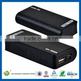 C&T Black REAL 5600 mAh Grade-A Battery Cell Power Bank with Multiple Adaptors for mobile phone