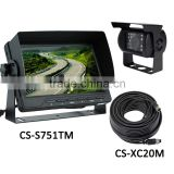 "7"" DIGITAL FLAT SCREEN COLOR REVERSING LCD MONITOR WITH SUN VISOR & 120 CCD COLOR REAR VIEW BACKUP CAMERA CS-S751TMS"