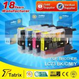 Money back guarantee for unsatisfied products/ compatible for brother LC73 inkjet cartridge
