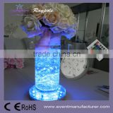 3AA battery operated 4inch round multicolor LED light base