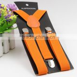 fashion accessories orange color braces best suspenders for kids