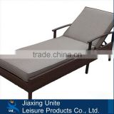 Aluminum frame rattan foldable bed/outdoor daybed with cushion