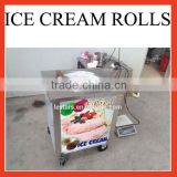 Single flat round pan fried ice machine / ice cream roll maker for ice cream shops made in China