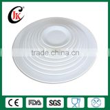 Wholesale white round porcelain dinner plate, artwork customising ceramic plate for restaurant