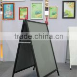 New LH2-7 black steel square pipe and grey pvc hollow plates,double side A-board,poster board and poster stand