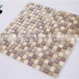 MB SMS08 Wholesale Glass Mix Stone Mosaic Tile Exterior Mosaic Tile Outdoor Wall Mosaic Tile