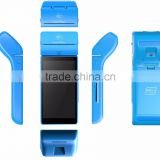pos terminal with 58mm thermal printer/nfc/rfid/fingerprint reader wifi 4g communication