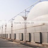 Plastic film agricultural greenhouse with equipment