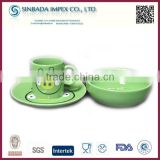 2015 new design ceramic products, 3pcs children breakfast dinner set