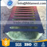Polymer Concrete Drain Plastic Channels Steel Grating Cover Drainage Ditch