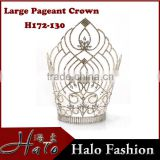 Hair Accessories 30cm tall Large Size Rhinestone CCrystal Beauty Pageant Crowns&Tiaras