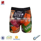 Brilliant Sublimation Print 92% Polyerster 8%Spandex Long Boxer Underwear Men Boxer Briefs