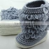 Alibaba china cheap price hand knitted baby booties