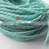 Round Faux Braid Leather Cords String Rope Jewelry Beading String For Bracelet & Necklace DIY Jewellry Accessor