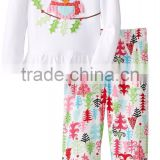 Spanish baby clothing christmas kids outfits plain shirts with icing leggings