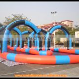 Exciting Games inflatable car road racing tracks,inflatable zorb ball track,go kart racing
