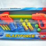 kids plastic toy rocket EVA ball shooting gun toy