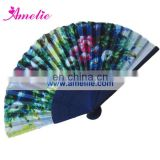 AF1414 Flowers pattern printed fancy hand fans