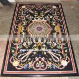 Exclusive Black Marble Inlay Dining Table Top