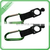 promotional custom polyester fabric carabiner key chain